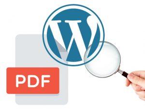 Como encontrar um arquivo PDF na biblioteca de mídia do WordPress